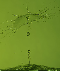 Water explosion (OgniP) Tags: water splash flash gels macro fuji xh1 waterart green speedlight gel art miops drops