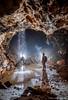 La galerie des Graviers (Fern nebula) Tags: speleology spéléologie cavers caving cave alpesmaritimes calern flash olympus yongnuo paca