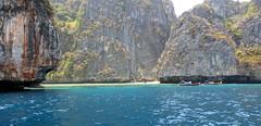 BEAUTIFUL!  LOOKS  LIKE A NICE LITTLE HIDE-A-WAY...,   LOH SAMAH BAY, THAILAND. (vermillion$baby) Tags: rockformation beach boat flickr island ocean phuket sea seascape thailand rock stone