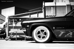 Black and White Impala (Dejan Marinkovic Photography) Tags: 1965 chevy chevrolet impala american classic car bw blackandwhite blackwhite whitewall