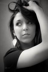 Juliana (suite) (ju.labs) Tags: canon 2470f4 portrait face fashion modele monochrome noiretblanc visage