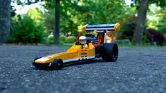 Weekends are such a drag (154/365) (robjvale) Tags: nikon d3200 adventurerjoe lego project365 drag racing petrol fast race yellow wheels