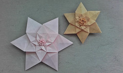 Double and Triple Fractal Star (Monika Hankova) Tags: origami star monistar fractal