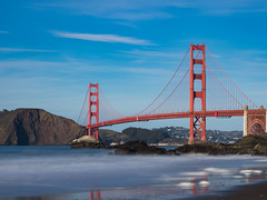 Blue Skies and Golden Gate (MacDonald_Photo) Tags: california jamieamacdonald sanfrancisco visionarysummit sl33stak zd lightroom oly olympus zuiko eatonrapids michigan getolympus omd omdem1mkii μ43photography μ43 em1mkii omdem1markii bakerbeach goldengatebridge 12100mm 12100mmf4 mzuiko12100mmf4pro nisi nisifilters nisi6stopnd