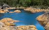 Rocky Water (bjorbrei) Tags: rock water dam forest nature blue trees railing surface trondalsdammen dammane gressvikmarka trondalen gressvik fredrikstad norway pathway granite