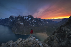 The View (tms\) Tags: greenland fjord sunset adventure explore rocks climb mountains