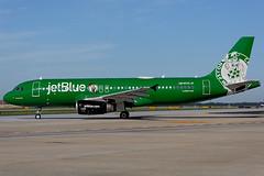 N595JB - Airbus A320-232 - jetBlue - KATL - June 2018 (peachair) Tags: n595jb airbus a320232 jetblue katl june 2018 msn 2286 luckyblue boston celtics livery