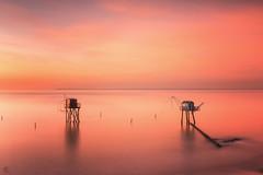 Twinpink !! (Grégory Dolivet) Tags: longexposure sea water seascape sunset sky sun coucherdesoleil ocean fineart flickr