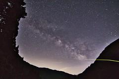 Milkyway and a Dancing Firefly IMG_4944 (armada_rider_jp) Tags: nature astroscape astrophotography milkyway firefly night shiga japan nightshot longexposure stars galaxy 滋賀 日本 余呉 天の川 宇宙 空 星景 銀河 tokina tokina1116 starrynight lighting