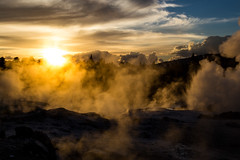 Steamy (peterreading) Tags: nz newzealand nature beauty pretty picturesque geyser steam water waterway hot hotpools natural sunset dusk evening afternoon rotorua sulphur