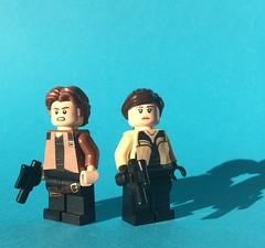 Han Solo and Qi'ra (FxanderW) Tags: lego starwars minifigure custom moc solo astarwarsstory hansolo chewbacca qira