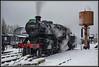 'Pig' in the snow. (Rob-33) Tags: 43106 flyingpig ivattclass4 britishrail lms bewdleystation pentaxk3 snowscene svr severnvalleyrailway steampreservation steamlocomotive uksteam