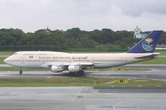 HZ-AIN, Singapore Changi, November 27th 2003 (Southsea_Matt) Tags: hzain saudiarabianairlines skyteam boeing 747368 singapore sin wsss november 2003 autumn canon 10d airport aviation aircraft transport srisakhon