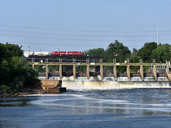 Across the dam (Robby Gragg) Tags: cp gp20ceco 2203 wisconsin dells