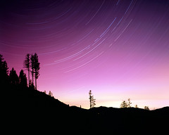 Clearcut Silhouette (voetshy) Tags: provia 100f film long exposure toyo 45a expired 4x5 fuji star trails night nikon nikkor 90mm 45 sw trees oregon