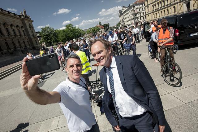 Selfie with Major Burkhard Jung