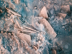 Frozen lake surface looks like exotic alien landscape (blurMEDIA Stock) Tags: canada canadianshield earth georgianbay ontario abstract aerial ancient blue chemistry clean climate climatechange cold colortemperature cool crystal environment environmental explore fragile fragility freezing frigid frozen globalwarming goldenhour ice icecube icicle icy journey kelvin lake lakeice landscape lifestyle light melt mood nature north northern outdoor pattern phasechange planet pure purity refreshing shoreline solitary solitude stewardship sunset thaw warm warming water whitebalance wilderness winter