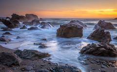 North Coast (Juan Pablo J.) Tags: coastline california color canon5dmkii canon24105mmf4l coast sunset seascape sky rocks river sundown sea seashore searocks beach