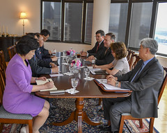 Secretary Pompeo Participates in a Meeting With DPRK Vice-Chairman Kim Yong Chol (U.S. Department of State) Tags: mikepompeo kimyongcho dprk