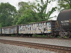 Graffiti 5-31-18 (Nsguy999) Tags: trains railroad railfan panasonicg7 norfolksouthern unionpacific uprr locomotive historic freight train railfanning pennsylvania