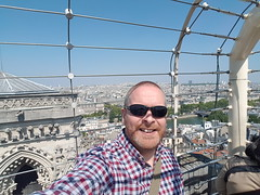 Me at the top of the Notre-Dame Cathedral (Donald Morrison) Tags: cathédralenotredamedeparis notredame cathedral church paris france notredamedeparis frenchgothic architecture romancatholic