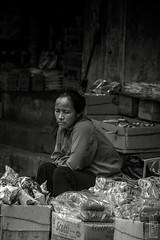 hawker (peter birgel) Tags: vietnam hanoi street portrait blackandwhite seller travel scene nikon d70 travelphotography