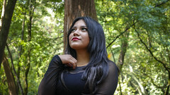 Evelyn 2 (genchivictor) Tags: woods forest bosque mexico retrato portrait black