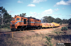 3495 XA1408 near Boyup Brook 22 February 1983 (RailWA) Tags: railwa philmelling westrail 1983 xa1408 near boyup brook