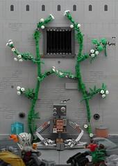 Junkyard 1: The Collector (Anthony (The Secret Walrus) Wilson) Tags: lego moc afol tfol robot junkyard series photography lighting rustyard rustbot dystopia gear machine