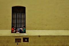 Habana Vieja- Convento Nuestra Senora de Belen 13 (luco*) Tags: cuba la havana habana vieja convento nuestra senora de belen jaune amarillo yellow boys garçons jeunes young fenêtre window flickraward flickraward5