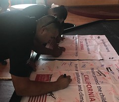 California members signing letters to their Senators for the 2018 Play-In for Climate Action