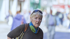 Startled (Frank Fullard) Tags: frankfullard fullard startled candid street portrait lady surprised colour color dublin irish ireland face person