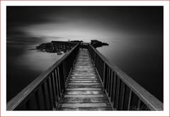 Into the light (Deek Wilson) Tags: pansrock ballycastle longexposure mono black white sea sky seascape footbridge northcoast northernireland countyantrim