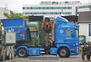 Scania R560 v8 AA11210 loads container of scrap (sms88aec) Tags: scania r560 v8 aa11210 loads container scrap