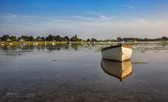 When the boat came in (Through Bri`s Lens) Tags: sussex boshamharbour bosham harbour boat moored tiedup sail hightide reflections brianspicer canon5dmk3 canon1635f4