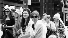 Processions Edinburgh 2018 040 (byronv2) Tags: processions processionsedinburgh edinburgh edimbourg meadows middlemeadowwalk scotland woman women candid street peoplewatching protest march rally suffragette votesforwomen 1918 2018 feminism politics vote voting blackandwhite blackwhite bw monochrome