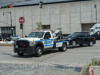 NYPD Tow Truck at Hudson Pier 76 Tow Pound, Hell's Kitchen, New York City