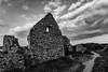 Old Salt House, Port Eynon, Gower (dgmann11) Tags: gower porteynon holidays silver fx monocrome sunset architecture sky clouds path sand stones ruins abandoned