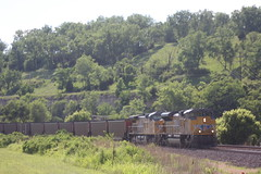 57364 (richiekennedy56) Tags: unionpacific sd70ace ac44cw up8858 up6840 kansas wyandottecountyks bonnersprings sunflower railphotos unitedstates usa
