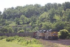 57364 (richiekennedy56) Tags: unionpacific sd70ace ac44cw up8858 up6840 kansas wyandottecountyks bonnersprings sunflower railphotos unitedstates usa
