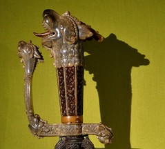 Sword, 1875 (sea creature) (jacquemart) Tags: buckinghampalace splendoursofthesubcontinent queensgallery london india arts crafts exhibition tiger sword 1875