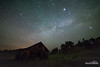 Kirby Midnight (kevin-palmer) Tags: montana june spring summer nikond750 samyang rokinon14mmf28 night sky stars starry dark space astronomy astrophotography clear old abandoned wooden structure building barn field grass grassy trees north midnight kirby ghosttown
