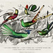 Bar-Tailed Humming Bird, Stoke Humming Bird, Underwood's Humming Bird, Gould's Humming Bird, and Topaz Throated Humming Bird from A history of the earth and animated nature (1820) by Oliver Goldsmith (1730-1774). Digitally enhanced from our own or