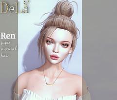 "=DeLa*= new hair ""Ren"" Summer hair Vol.1 (=DeLa*=) Tags: dela hair fitted rigged bento mesh materials secondlife secondlifefashion sl slhair style new good vives fair"