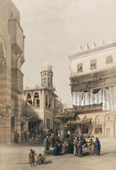 Bazaar of the coppersmiths Cairo illustration by David Roberts (1796-1864). (Free Public Domain Illustrations by rawpixel) Tags: egyptian otherkeywords ancient antique architecture bazaar building builtstructure cairo cc0 city coppersmiths dancinggirlsofcairo davidroberts drawing drawn egypt ghawázees handdrawing handdrawn illustrated illustration old publicdomain sketch structure town vintage