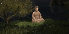 Boundless Love Towards All Things (Loegan Magic) Tags: secondlife buddhism buddha statue grass tree outdoors spirituality