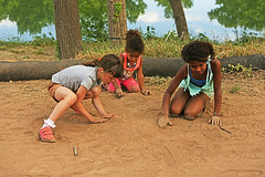 Children Who Play Together, Make a New World Together (kirstiecat) Tags: child children play austin texas sand desert together friends beautiful saturation colors america unitedstates