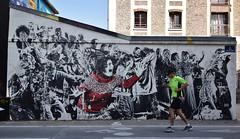 L'horreur est humaine (HBA_JIJO) Tags: streetart urban paris art france hbajijo wall mur painting collage peinture wheatpaste street paper urbain papier scene life festiwall festival