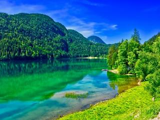 Hintersteiner See in Tyrol, Austria
