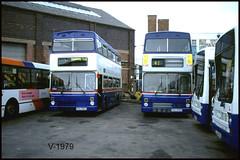 2476 2566 Miller Street 2001 ((Stop) The Clocks) Tags: wmpte westmidlandstravel millerstreet withdrawnbuses scrapbuses 2566 2476 pog566y pog476y mcw mcwmetrobus